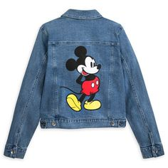 Mickey Mouse Denim Jacket for Women by Her Universe shopDisney Painted Denim Jacket, Painted Jeans, Painted Clothes, Hand Painted, Mickey Mouse Jacket, Mickey Mouse Outfit, Toddler Vest, Denim Jacket Fashion, Disney Shirts