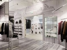 kombinasi gaya dalam interior butik