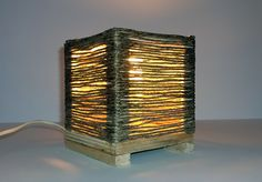 https://www.behance.net/cicciap  _Twine lamp on Behance_  #lamp #handmade #twine #wood #recycling #lampada #faidate #fattaamano #riciclo #spago #legno #lampadaspago
