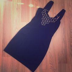 Open Back LBD. Caged open back little black dress. Only wore once. Dresses Backless