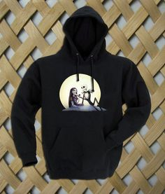 Jack and Sally nightmare before christmas Hoodie   #hoodie #clothing #unisex adult clothing #hoodies #graphic shirt #fashion #funny shirt