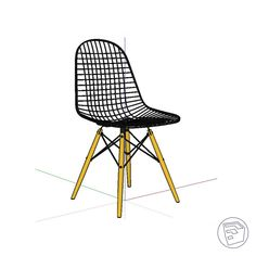 Wire Chair, Smart Design, Objects, Chairs, Interior, Home Decor, Building Information Modeling, Intelligent Design, Decoration Home