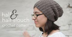 Half & Half Slouch Hat Crochet |  Free pattern Slouchy Cappello Crochet da piccole scimmie Crochet