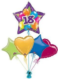18th Sparkling Star Balloon King Birthday Balloons
