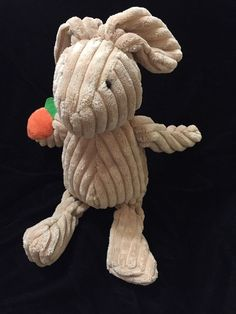 Manhattan Toy Beige Cordy Bunny Soft Toy Carrot Plush Comforter Brown Corduroy | eBay