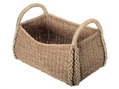 Basket - Oversized Seagrass Basket $145 with FREE SHIPPING. Hand woven from Seagrass. #baskets #organizing #storage
