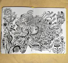 illustrator Samarskaya Milana #sketch  #bird #ornament #sketchbook #ink #flowers #artwork #illustration