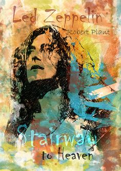 Robert Plant - Stairway to Heaven - Led Zeppelin ilustración