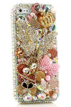 Cute iPhone 5 5s 5c bling case Diamond Diva Design for girls
