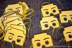 Boys Lego Themed Birthday Party Mask Ideas