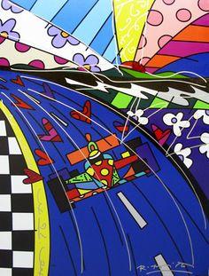 Race Car 2008 by Romero Britto.