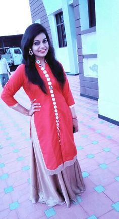 mirror work kurti with skirt