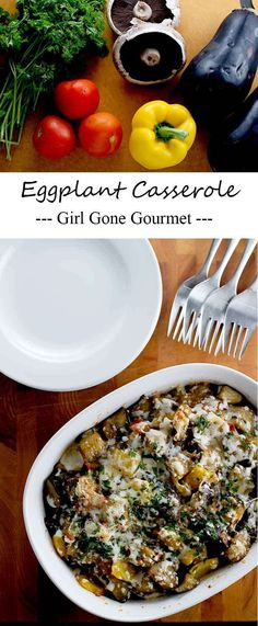 The best of summer all baked up together in a delicious casserole sub cheese and butter Vegetable Recipes, Vegetarian Recipes, Cooking Recipes, Healthy Recipes, Vegetable Ideas, Eggplant Dishes, Eggplant Parmesan, Quinoa Salat, Clean Eating