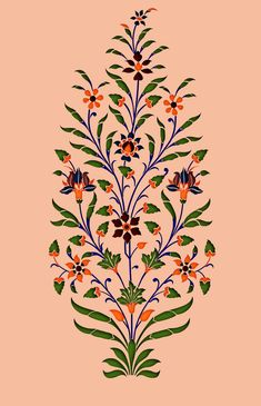Floral Illustrations, Botanical Illustration, Illustration Art, S8 Wallpaper, Pattern Wallpaper, Islamic Art Pattern, Pattern Art, Textiles, Textile Prints