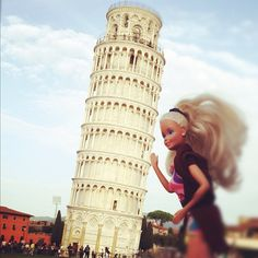 Today is a good day to visit Pisa  (this photo is NOT a montage! )