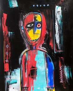 996 Likes, 19 Comments - Painter, Mixedmedia, Painting, Stalking, Abstract Art, Art, Contemporary Art, Portrait