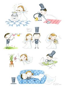very cute bride and groom. How Lucky Am I, Lose My Mind, Holidays And Events, Pretty Little, Art Images, Zentangle, Groom, Doodles, Deco