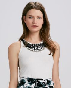 Liya Embellished Knit Tank by Milly at Bergdorf Goodman.