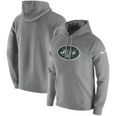 the latest 1099c c26e9 New York Jets Nike Club Fleece Pullover Hoodie - Heathered Gray