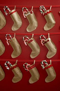 Brown Paper Stocking Advent Calendar DIY Craft tutorial