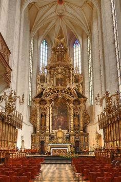 High Altar of the Church of Saint Catherine, Krakow, Poland. This church was founded upon the order of Casimir III, and given to the Augustinian Order.