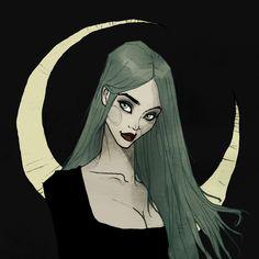 603 отметок «Нравится», 7 комментариев — Abigail Larson (@abigail_larson) в Instagram: «A new witchy woman for #walpurgisnacht inspired by the lovely @dayanacrunk ✨ Follow the link in my…»