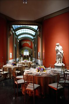 The Rotunda in the Historic Landmark Building at PAFA - Pennsylvania Academy of the Fine Arts. Design by Beautiful Blooms.