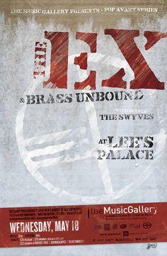 The Ex • Music Gallery poster • designed by jjparé • jjpare.tumblr.com Poster Layout, Layout Inspiration, Gallery, Music, Design, Musica, Musik, Muziek, Design Comics