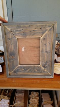 Reclaimed Wood Handmade Picture Frames by StampCreekPrimitives,