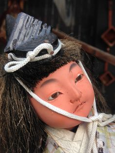 This red-faced rogue lives in a museum in Tobe, Ehime, home of the Tobe Yaki ceramics. #doll #shikoku #ehime