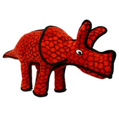 Tuffy Durable Dog Toy Dinosaur Triceratops - T-D-TRI