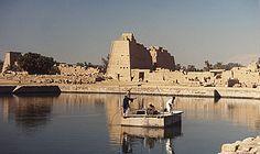 The sacred lake, the  Temple of Karnak