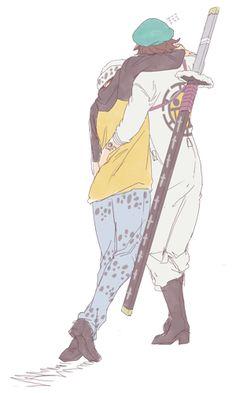 Trafalgar D. One Piece Fanart, One Piece Anime, Ace And Luffy, One Piece Ship, One Peace, One Piece Images, Trafalgar Law, I Love Anime, Anime Shows
