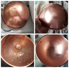 Brass/copper bowl cleaned up by Bar Keepers Friend