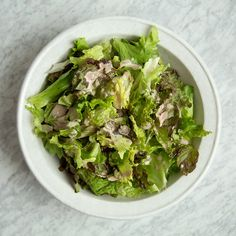 The secret ingredients in this doubly delicious Caesar dressing are Japanese dashi and togarashi. Get the recipe at Food & Wine.