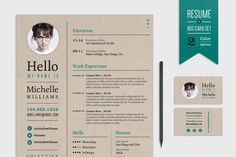 Creative Resume & Business Card Set @creativework247