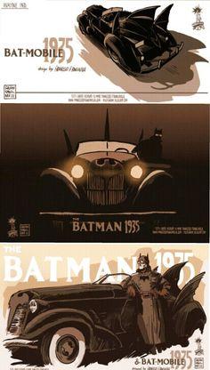 Batman and Batmobile 1935 by Francesco Francavilla