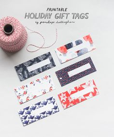 Free holiday printables by Penelope Dullaghan for Design*Sponge!   http://www.designsponge.com/2015/12/printable-freebie-holiday-gift-tags.html