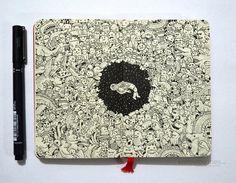 Mind-Blowing Moleskine Doodles by Kerby Rosanes