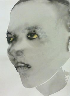 Marlene Dumas, Models. 1994, inkwash, watercolor and chalk on paper