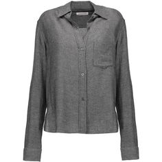 ISABEL MARANT ETOILE Pablo twill shirt ($270) ❤ liked on Polyvore featuring tops