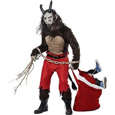 Shop this deluxe demon costume online now at Heaven Costumes. This high quality men's Krampus fancy dress is perfect for a funny Christmas costume, or wear it for Halloween! Adult's demon outfits are in stock now ready for express delivery. Halloween Costumes For Sale, Scary Costumes, Christmas Costumes, Diy Costumes, Scary Halloween, Adult Costumes, Cosplay Costumes, Halloween 2016, Costume Ideas