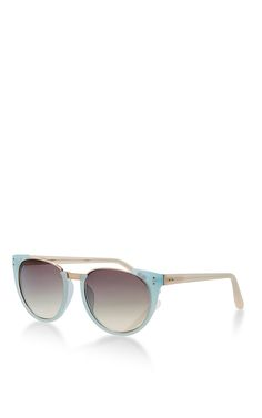 Gradient Sunglasses in Matte Blue by Linda Farrow Now Available on Moda Operandi