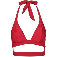 Fuller Bust Triangle Bikini Top by Wolf & Whistle (17 CAD) ❤ liked on Polyvore featuring swimwear, bikinis, bikini tops, red, cutout bikini top, swim tops, beach bikini, red bikini and triangle bikinis