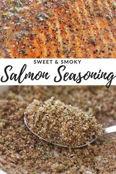 This Sweet & Smoky Salmon Seasoning is the perfect blend of flavors to complement grilled or baked salmon. Plus, it's made from pantry staples you likely have on hand! Let cooking magic show you how to cook. Dry Rub Recipes, Fish Recipes, Seafood Recipes, Dinner Recipes, Cooking Recipes, Healthy Recipes, Smoked Salmon Recipes, Tilapia Recipes, Cooking Pork