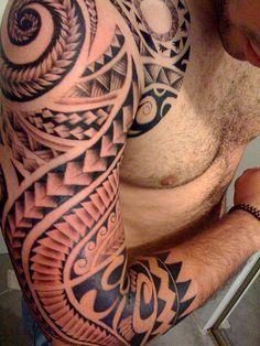 Polynesian Tattoo by mytat_2s, via Flickr.  Master tattoo artist - Trial by Ink
