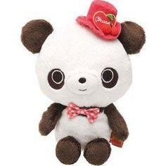 98f9e9ea6139c Chocopa panda bear with top hat plush toy