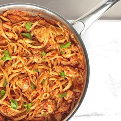 Creamy Tomato Chicken Linguine Pasta                                                                                                                                                                                 More