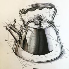 Hakan Gürsu - Last sketch of the year I wish everyone a happy, peaceful year with lots of sketches! Sketch Design, Design Art, Interior Design, Drawing Sketches, Art Drawings, Sketching, Academic Drawing, Foto Fantasy, Object Drawing