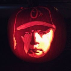 #OsPumpkin Amazing Pumpkin Carving, Pumpkin Carvings, Buck Showalter, Baltimore Orioles Baseball, Sports, Birds, Magic, Holidays, Halloween